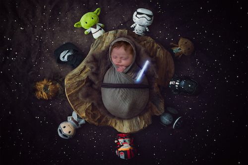 Newborn Photographer - Star wars - Emma Lowe Photography