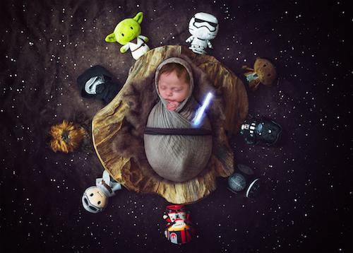 Newborn Photography - Star wars baby - Emma Lowe Photography