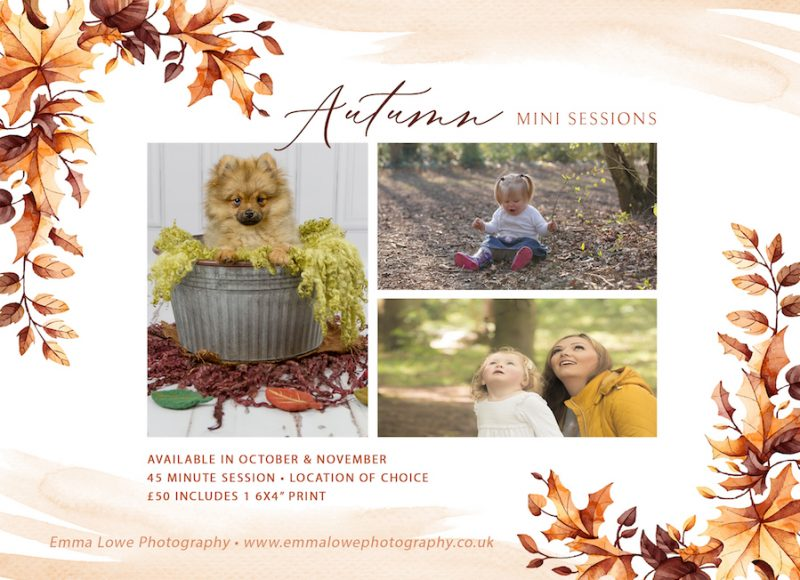 Emma Lowe Photography Autumn Mini Sessions 2019