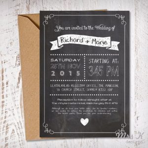 Mrs K Design - Wedding Invitations Leicestershire