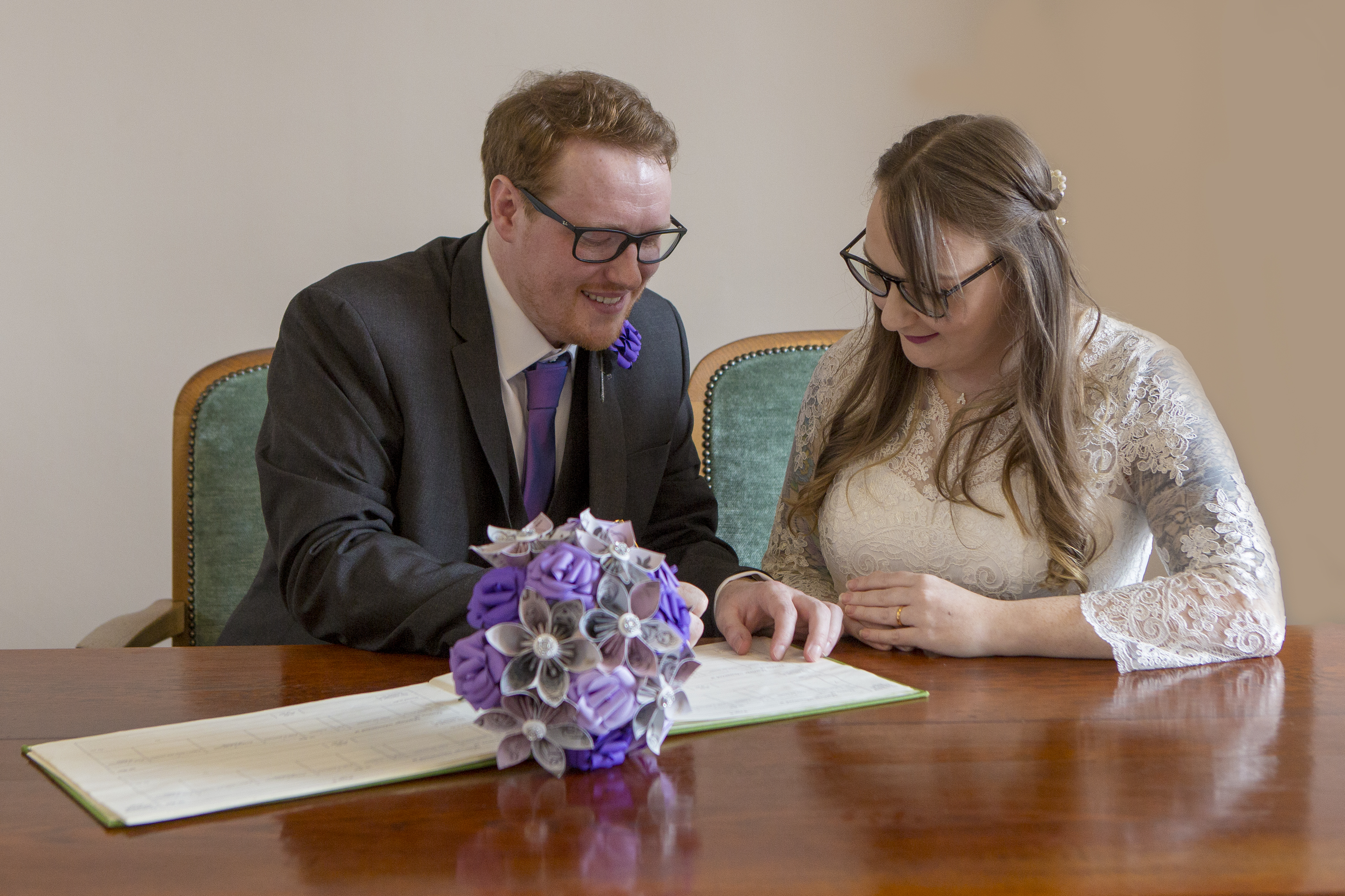 Signing of the marriage - Emma Lowe Photography