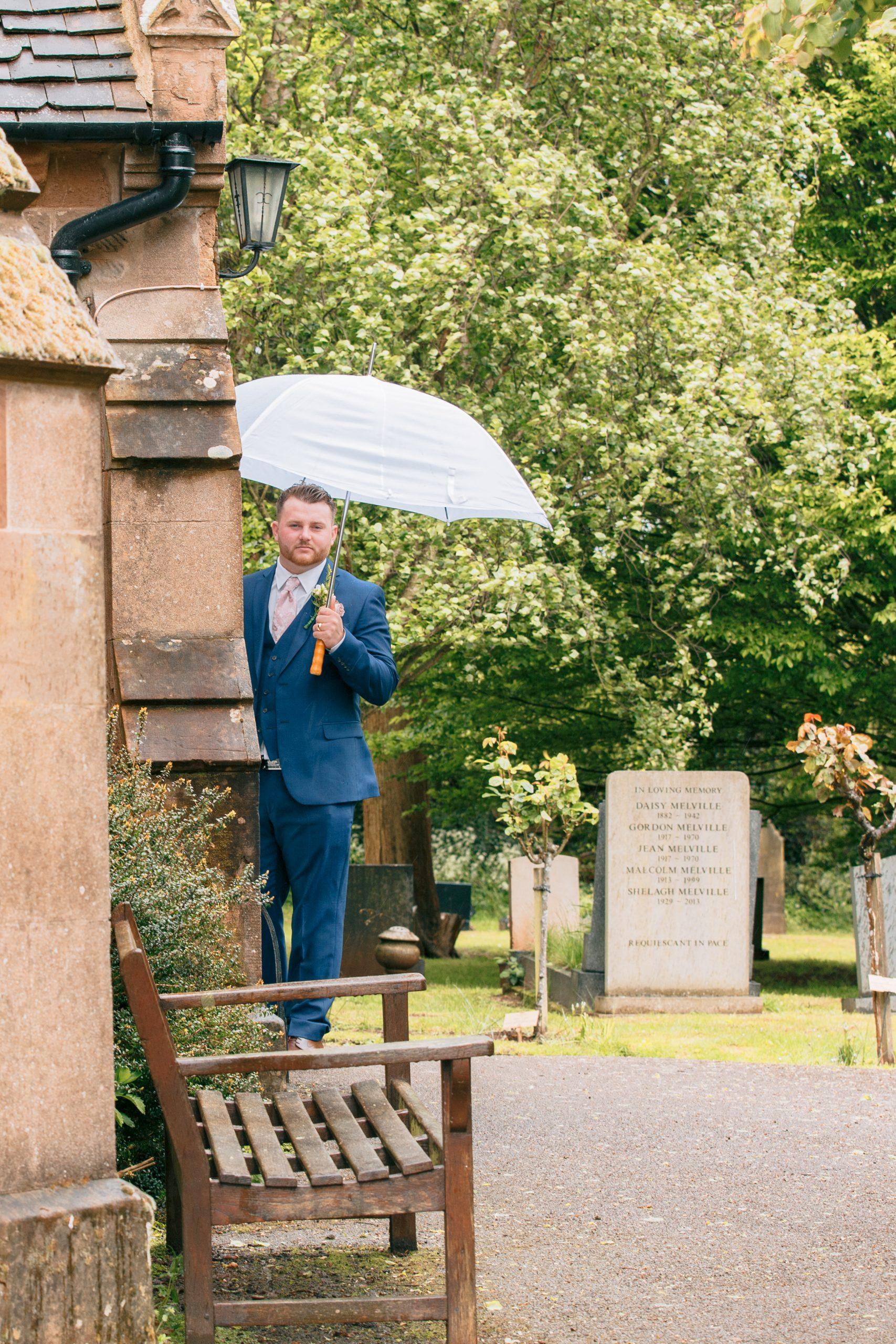 Harry James - Groom St Giles Church Coventry - Emma Lowe Wedding Photography 2021